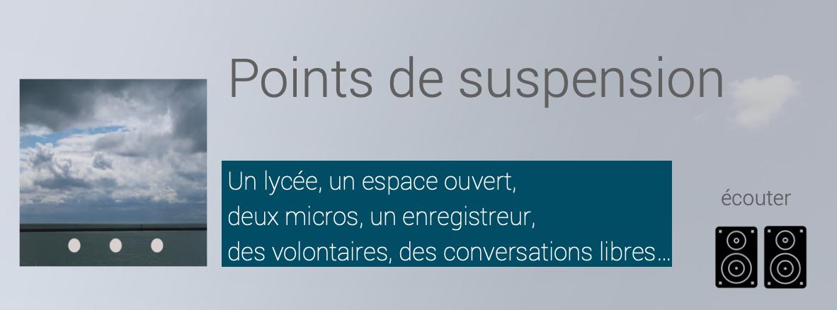 visuel / présentation du projet POINTS DE SUSPENSION