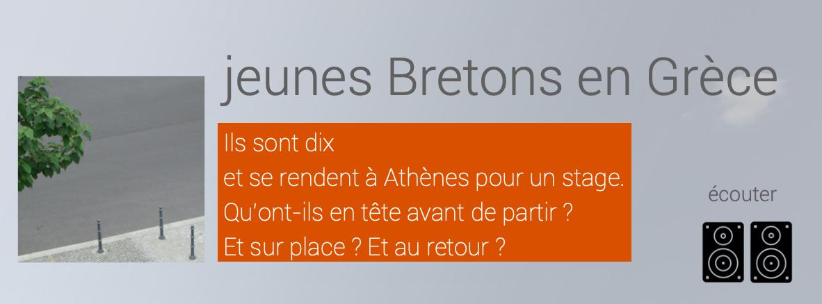 visuel / présentation du projet JEUNES BRETONS EN GRECE